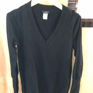 J. Crew 100% Cashmere Sweater — Black